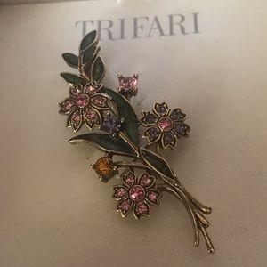 NIB Trifari Flower Bouquet Pin